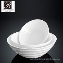 Hotel Ozean Linie Mode Eleganz weißen Porzellan Runde Schüssel pt-t0613