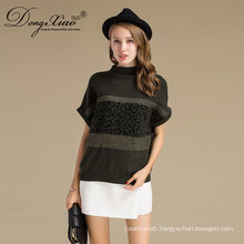 Hot Selling Factory Price Autumn 1 /2 Half Sleeve Women Casual Wear Pullover Sweater