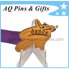 Dance Gold Medal with V Shape Ribbon
