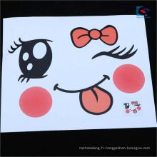 L'animal en forme de dessin animé par oeil de dessin animé de 3D a personnalisé des étiquettes et des autocollants pour des enfants
