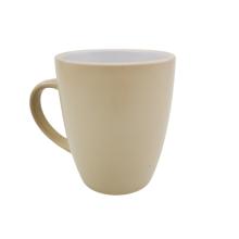 Wholesale matt finished  two tone color glazed 11oz bullet shape coffee mug for holiday promotional