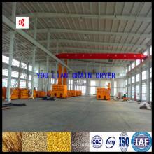 Recirculación de maquinaria de secado de trigo por lotes