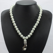 Artificial White Pearl Necklace Costume Jewelry