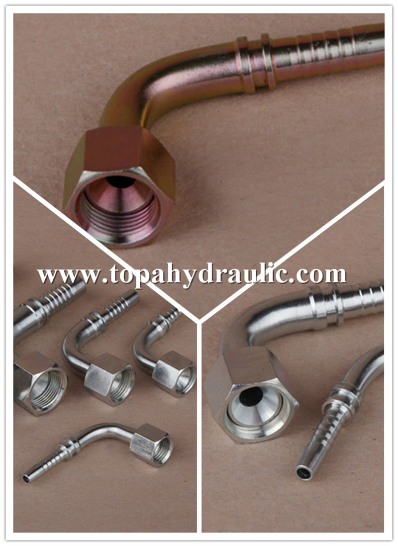 90°metric female 74°cone air hose fittings