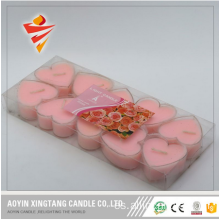 Lovely Heart Shape Colorful Tealight Candle