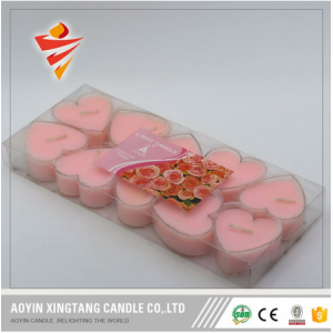 Candele Tealight Red Smokeless a forma di cuore