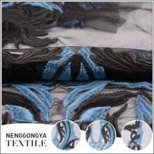 Tela líquida 100% do bordado do poliéster do costume de alta qualidade para a roupa