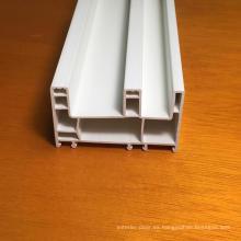 Perfiles de PVC de tres carriles para ventanas y puertas