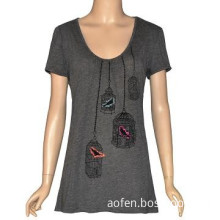 Printed Summer Short-sleeve Designer Blouses