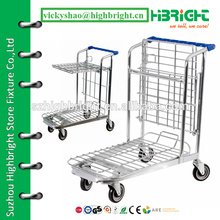 hand push logistic cart,warehouse trolley price,foldable transport industrial trolley cart
