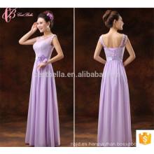 Venta caliente púrpura OEM servicio Suzhou Fábrica vestido de dama de honor
