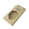 Kraft paper with clear pvc window cell phone box