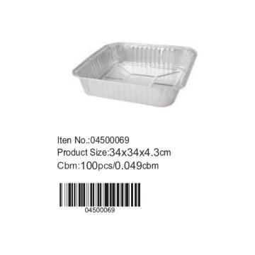 Molde do bolo de folha de alumínio quadrado de D34