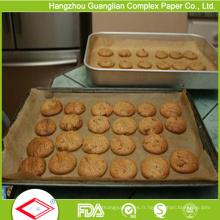 Revêtements de casserole de four de papier antiadhésif siliconés d'usine