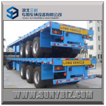 40`Ft 3axles Container Flatbed Semi Trailer