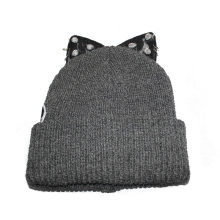 Fashion Knitted Winter Hat with Ear (GKA0401-F00003)