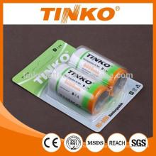 NiMH recarregável battery(accumulators) tamanho D alta qualidade OEM dado boas-vindas