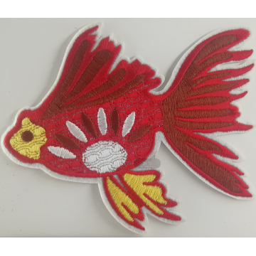 Maschinenstickerei Applique Patch Designs Goldfish Patch