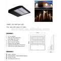 US standard ul cul approval 120watts super slim design led wall pack Outdoor Area lighting IP65