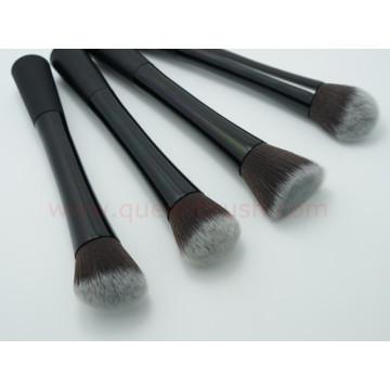 Brosse en métal Kabuki Brosse à maquillage cosmétiques 4PCS synthétique