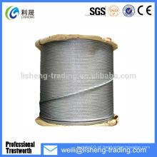 8x19 galvanizado de alta resistência à tração de aço corda de aço