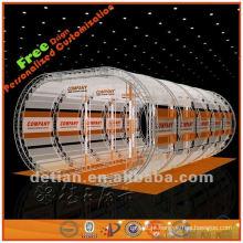 exibição de carrinho de publicidade de telhado superior em tipo de arco para exposição comercial