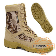 Tactical Camouflage Boots of Waterproof Nylon and Cowhide Leather