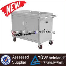 K395 Caldeira elétrica de alimentos portátil Bain Marie portátil com 2 armários e frigideiras