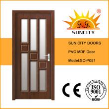 Интерьер ПВХ МДФ деревянные стеклянные дверные конструкции (СК-P081)