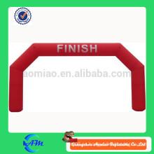 2015 arco inflable duradero barato para alquiler de alta calidad de color rojo arco inflable forma