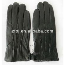 Homens luvas de inverno preto para proteger as mãos