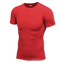 Multicolor Fitness & Sports Männer T-Shirts Hohe elastische enge Kurzhülse