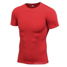 Multicolor Fitness & Sports Hommes T-Shirts High Elastic Tight Manches courtes