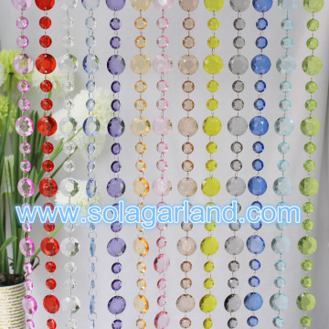 Wedding Favors Acrylic Crystal Faceted Beads Screen Room Divider Decoration
