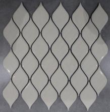 워터 드롭 모양 나무 패턴 도자기 모자이크