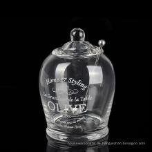 Deckelglas Olivenöl Glas Zuckerdose