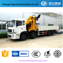 Camion de grue monté par camion de Dongfeng 8 * 4 de bras se pliant