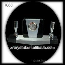 Magnifique horloge en cristal K9 T088