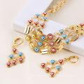 61215-Xuping Imitation Jewelry New Fashioned Evil Eye Jewelry Set