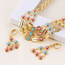 61215-Xuping Imitation Jewelry New Fashioned Evil Eye Jewelry Set
