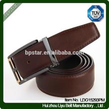 New Design Fashion Genuine Leather Square Metal Buckle Belt For Business Men/cintos de couro cinto de couro para homens