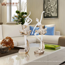 Nouveaux produits sculptures de femmes résine corps résine pour décoration de chambre
