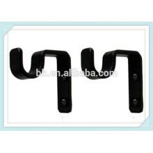 Малый кронштейн для спальни с детской спальней, 28-мм черный кронштейн для занавесей, кронштейн для драпировки