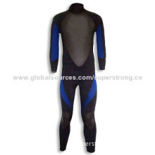 Men's Diving Suit with 10# YKK or YBS Zipper, Made of Neoprene and Nylon