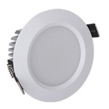 White aluminum alloy die casting LED downlight