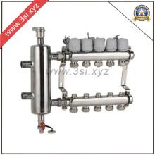 Separador de água anti-corrosão de qualidade para sistema de aquecimento de piso (YZF-M803)