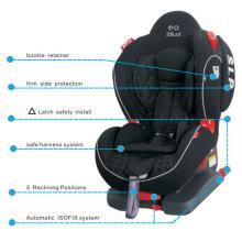 Установка детского автокресла с установленной системой фиксации и системой Isofix