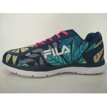 Fashion Design Leaves Print Colorful Running Shoes