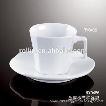 Italian Design Square Coffee Cup, Ceramic Espresso Cup, 4.Dishwasher safe Cup for Hotel & Restaurant