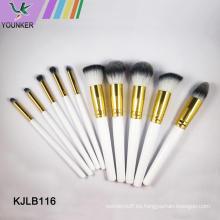 Set de pinceles de maquillaje profesional con logotipo personalizado